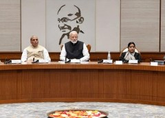Prime Minister Narendra Modi chairing the meeting of the Cabinet Committee on Security, at Lok Kalyan Marg, in New Delhi