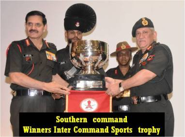 Winners of Inter Command Sports Trophy and COAS Essay Competition1
