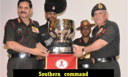 General Dalbir Singh, COAS felicitated the Winners of Inter Command Sports Trophy and COAS Essay Competition