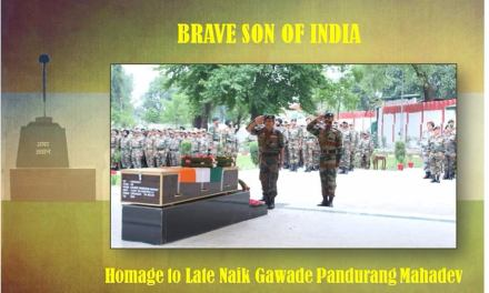 Homage‬ was Paid to Late Naik Gawade Pandurang Mahadev