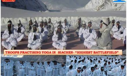 #IndianArmy Celebrates International #YogaDay in Siachen – Highest Battle Field #‎IDY2016‬