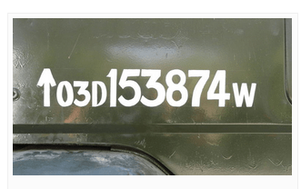 Army Vehincel Number Plate Meaning