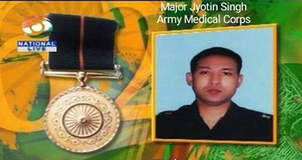 Major Jyotin Singh :  The first Army Doctor to receive the Ashok Chakra posthumously