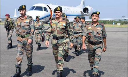 ARMY CHIEF REVIEWS SECURITY SITUATION IN KASHMIR.