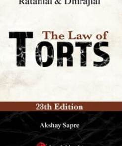 Lexis Nexis The Law of Torts by Ratanlal & Dhirajlal 28th Edition July 2019