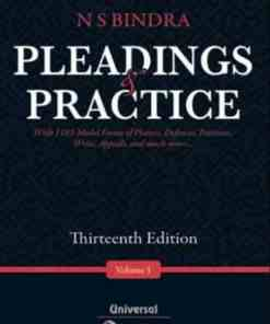Lexis Nexis's Pleadings and Practice by N S Bindra - 13th Edition 2021