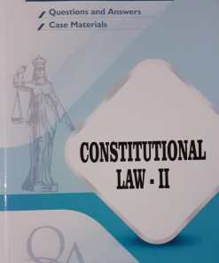 GLA's Question & Answers on Constitutional law-II by Dr. Rega Surya Rao 1st Edition 2019