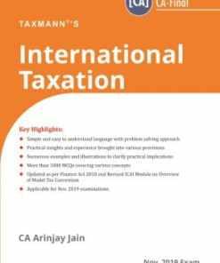 Taxmann's International Taxation (New Syllabus) by Arinjay Jain 2nd Edition September 2019