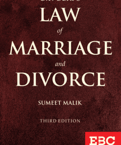 EBC's B.P. Beri's Law of Marriage and Divorce by Sumeet Malik 3rd Edition, 2020