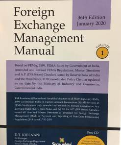 Snow White's Foreign Exchange Management Manual (2 Volumes) by D.T. Khilnani, 36th Edition January 2020