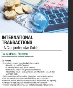 Wolters Kluwer's International Transactions- A Comprehensive Guide by Sudha G. Bhushan, 1st Edition November 2019