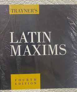 LJP's Latin Maxims by Trayner - 4th Edition - Indian Economy Reprint 2021