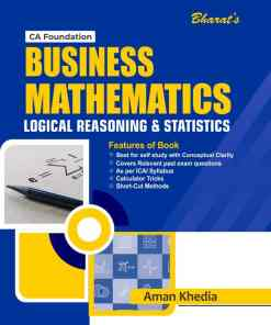Bharat's Business Mathematics, Statistics & Logical Reasoning by Aman Khedia for May 2021 Exam