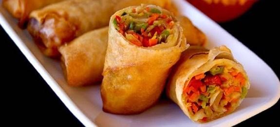 Vegetarian Spring Rolls Recipe   BY FARRUKH AZIZ   Indian Appetizer