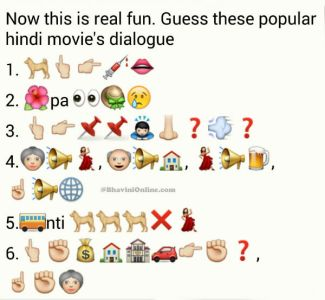 Guess Hindi Movie Dialogues from whatsapp emoticons