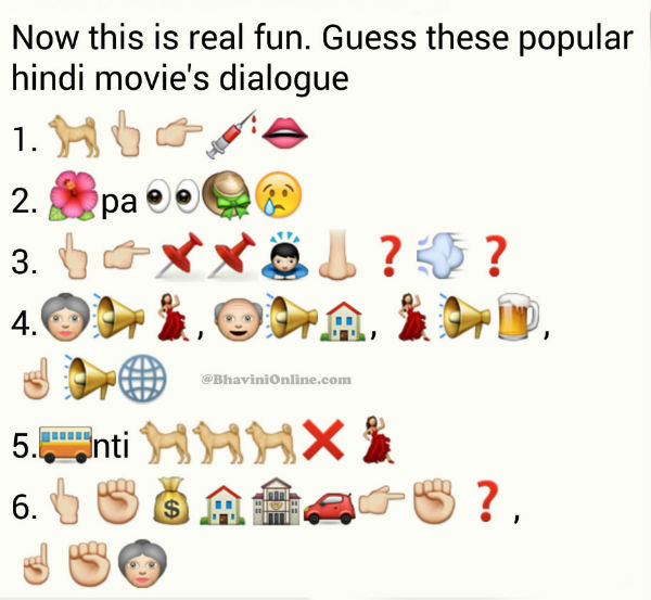 Whatsapp Puzzles: Guess Hindi Movie Dialogues From Emoticons and