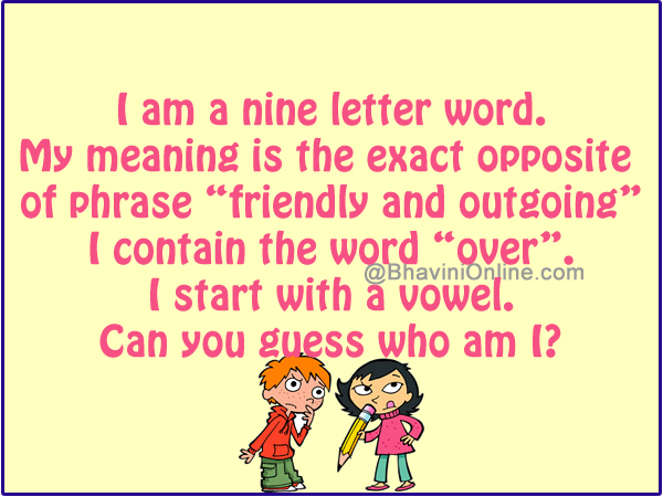 Word Riddle Games: Exact Opposite of The Phrase