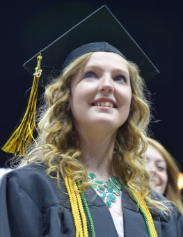 QC Commencement 2016 168 - grad with honor cords