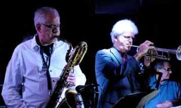 glenn wilson playing saxophone john dearth playing trumpet