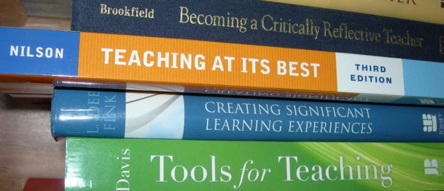 A Stack of books about teaching methods