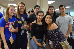 Group of students at orientation