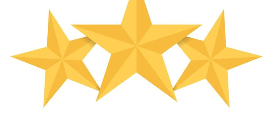 three gold stars
