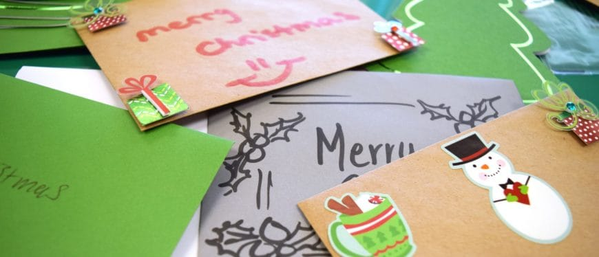 Christmas cards made at Cocoa & Cram