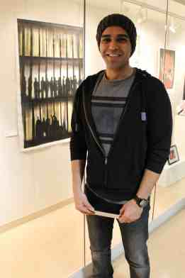 ArtSpace student exhibit award winner Saeed Ajideh