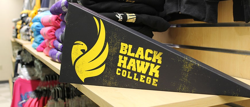 Hawks Hub photo with wooden pennant
