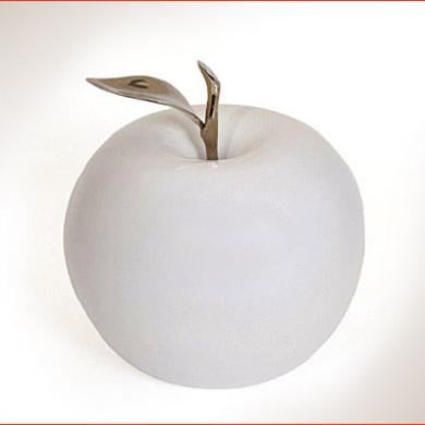 ceramic apples with silver stems