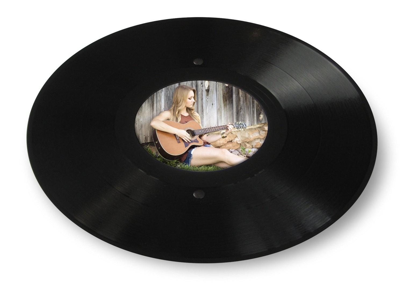 Runder Lp Bilder Rahmen Aus Echter Vinyl Schallplatte Mit