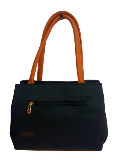 Women's Hand Bag Black & Tan color