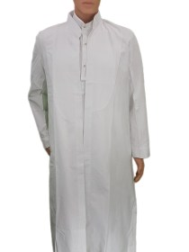 White Men's Kurta Ezaar Saya