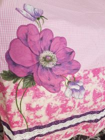 Pink Checks with a Big Bold Flower