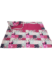 Ladies Quilted Masalla (Pink & Red)