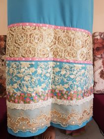 Firoza Blue Embroidered Panel Rida