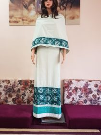 Pista Green Soft Rida with Ethnic Panel