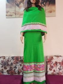 Parrot Green With Sequence Panel Rida