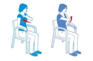 chair exercise for seniors handout swivel john lewis based exercises heart matters magazine alternate arm across body