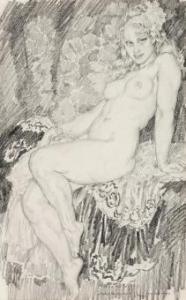 Lot 103, Norman Lindsay, Sally, c1935, est. $2,500-3,500. Long Tall Sally