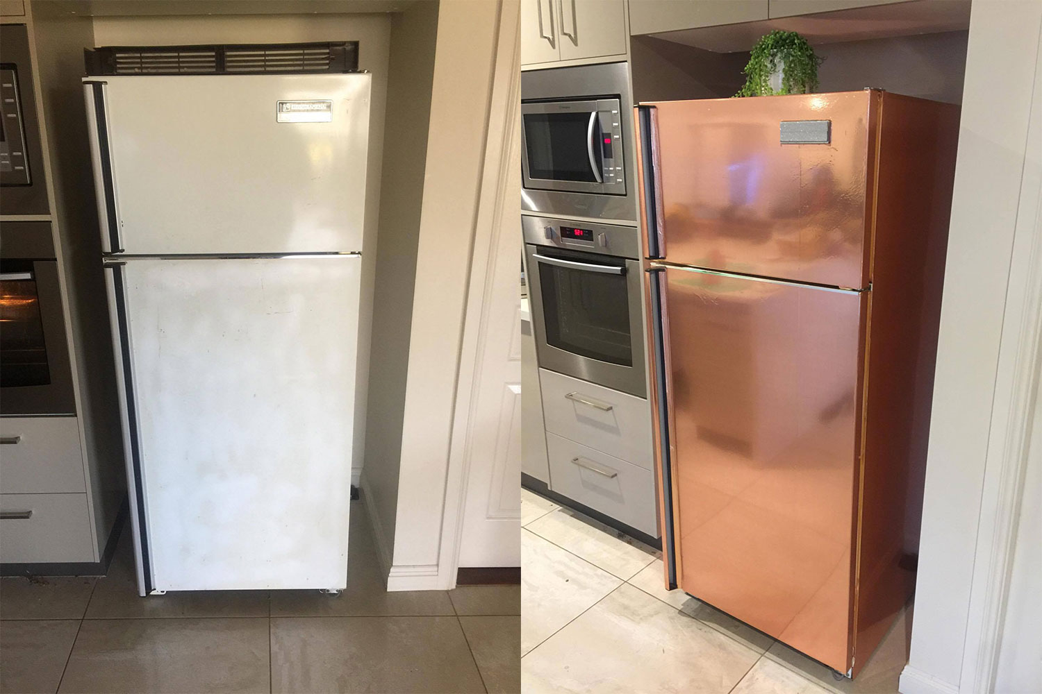 kmart kitchen faucet with handspray the 5 hack that transformed this fridge better homes and gardens