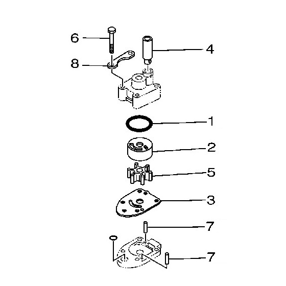 Yamaha 69M-WG078-00 Water Pump Repair Kit