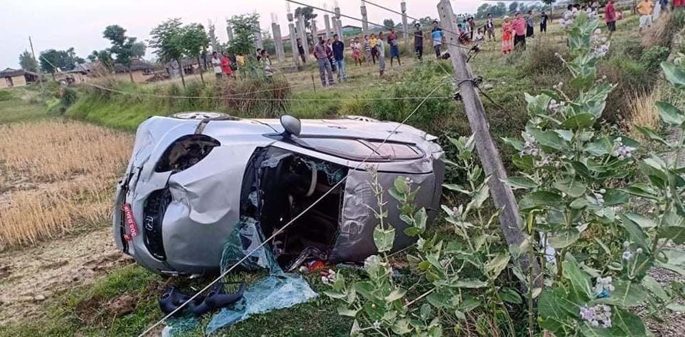 नवलपरासीमा कार दुर्घटना, चालकको मृत्यु