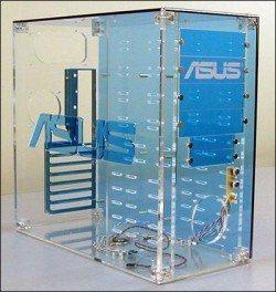 boitier transparent en plexi chez asus