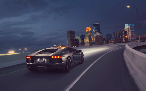 Hd Car Wallpapers For Nexus 5 Lamborghini Aventador Lp 700 4 Supercar Night City Wallpapers