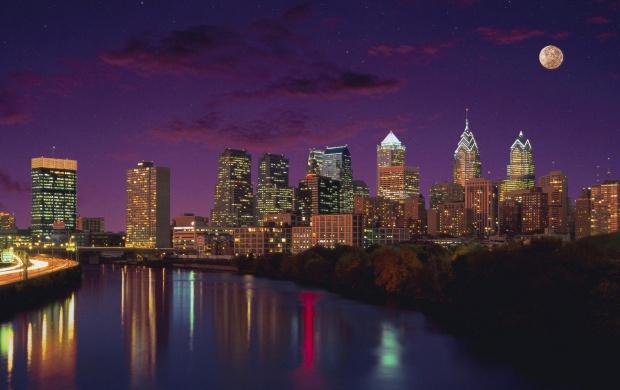 Iphone X Philadelphia Eagles Wallpaper Philadelphia City Night Lights Wallpapers