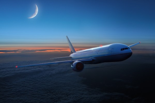 Airplane In Sky Night Wallpapers - 2550x1700 589486