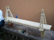 Bridge Made Out of IceCream Sticks