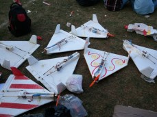 Foam Delta RC Airplanes from Nagpur Aeromodelling Club