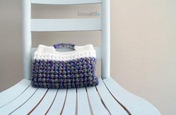 bobble stitch clutch